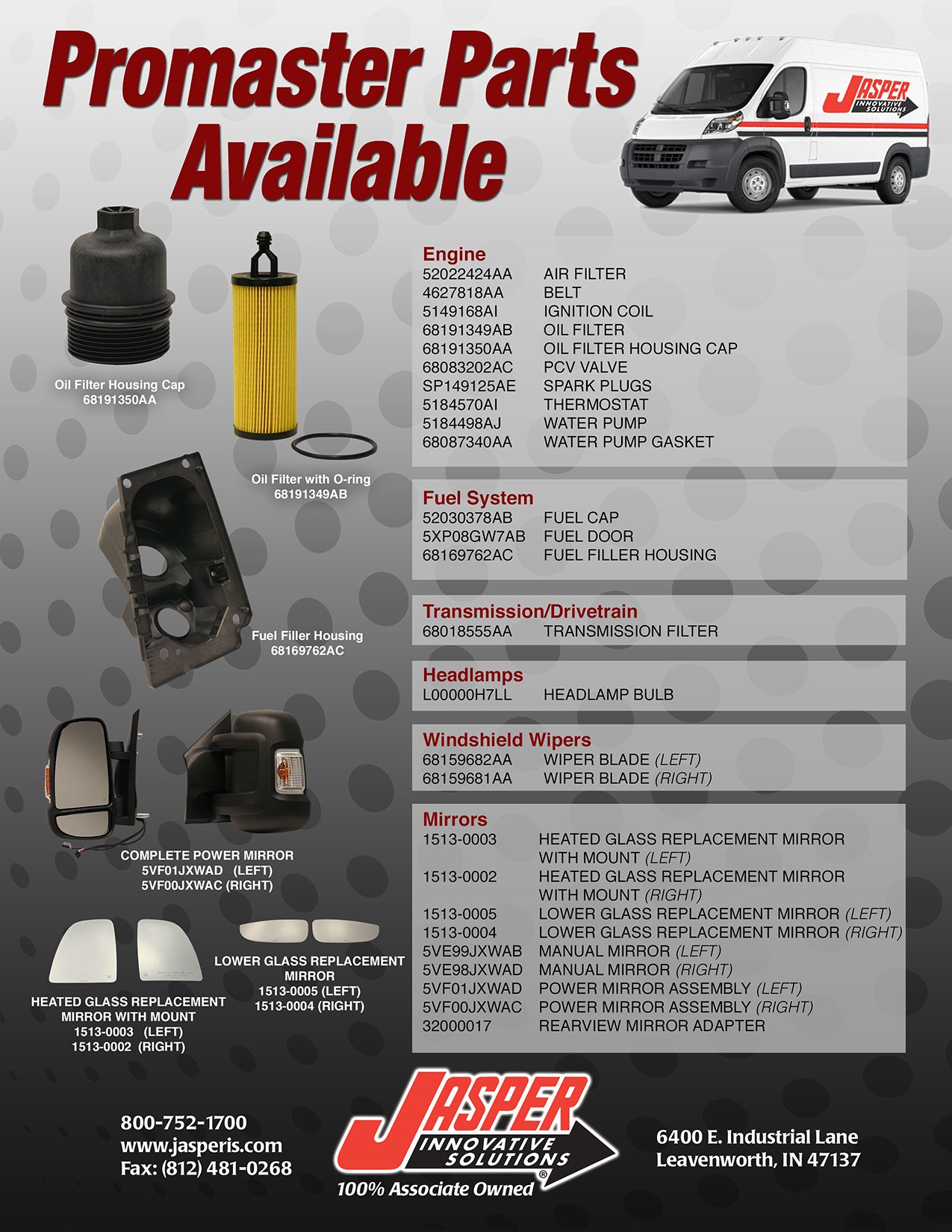 Ad E Jis Promaster Flyer on Dodge Ram Parts Diagram Door