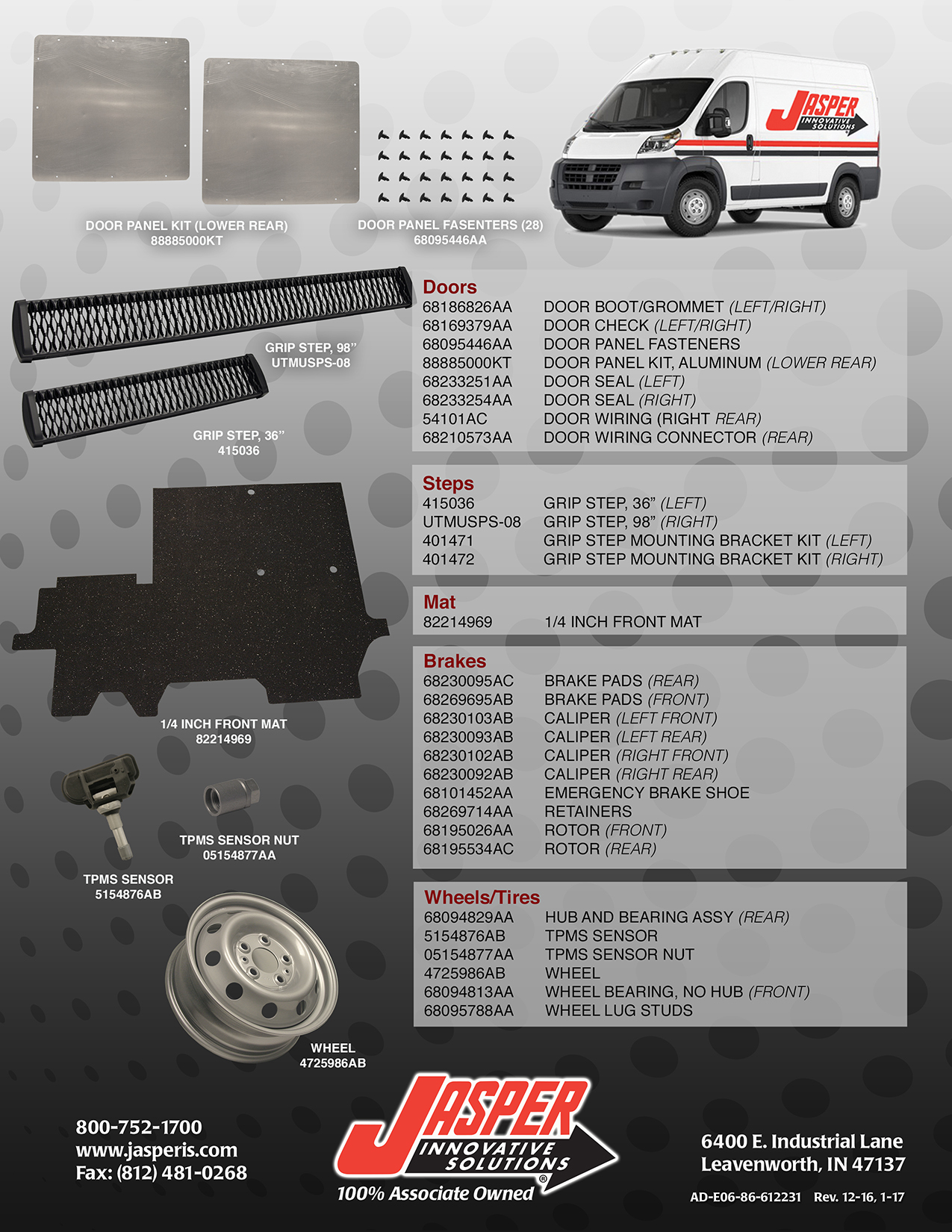 Ram Promaster Jasper Innovative Solutions Llv Mail Truck Fuel Filter Part Number Description Application